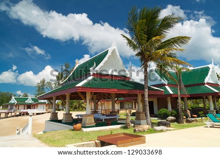 Traditional architecture of Thailand - stock photo