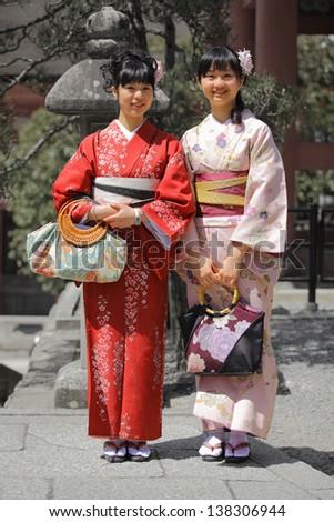 Traditional Asian Women in Kimono - stock photo