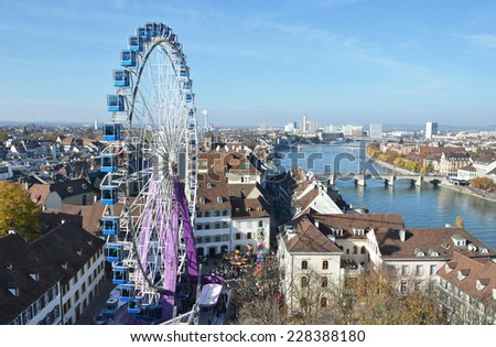 Traditional autumn fair in Basel, Switzerland - stock photo
