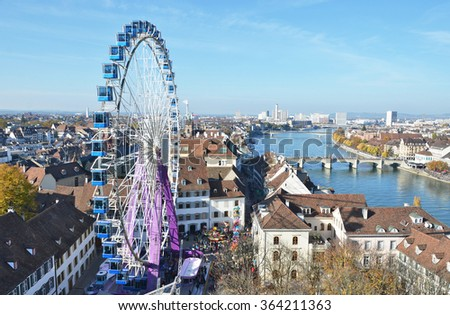 Traditional autumn fair in Basel, Switzerland