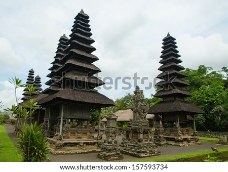 Traditional balinese hindu Temple Taman Ayun in Mengwi  Bali, Indonesia  - stock photo