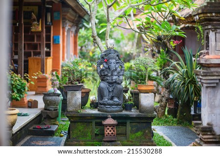 Traditional Balinese sculpture in Ubud, Bal, Indonesia - stock photo