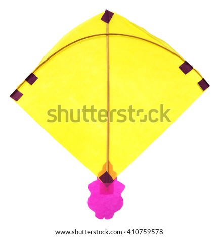 Traditional Bangladeshi kite made of thin paper over white background