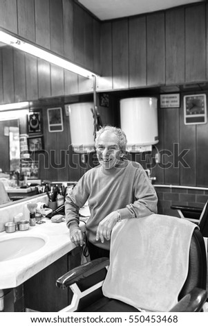 Traditional Barber Shop and Owner-Istanbul-Turkey 09-02-2013