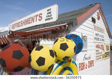 Traditional beach shop, UK - stock photo