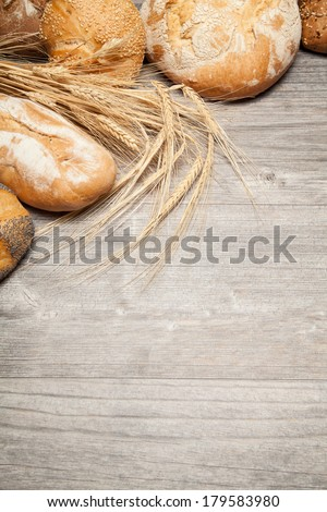 traditional bread background (copy space)