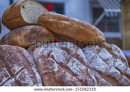 Traditional bread on Fair St. Dominic in Gdansk
