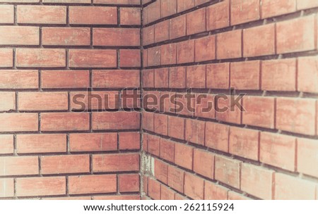 Traditional brick wall for background, texture, exterior and interior design