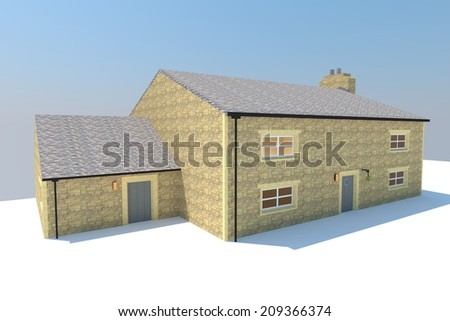 Traditional  British Cottage Housing  with Extension