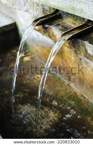 Traditional bronze fountain in Bulgarian country  - stock photo
