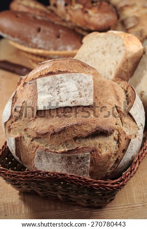 Traditional brown rye  bread