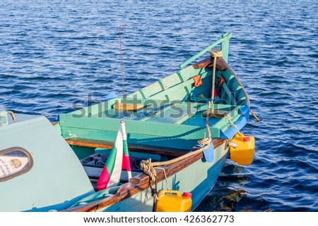 Traditional bulgarian boat