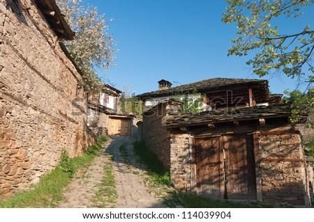 Traditional Bulgarian village - stock photo