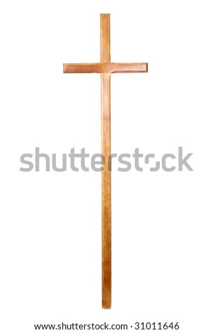 traditional catholic cross isolated on white
