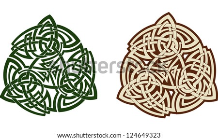 Traditional Celtic Triskell Tattoo Pattern Raster Check My Portfolio For A Vector Version