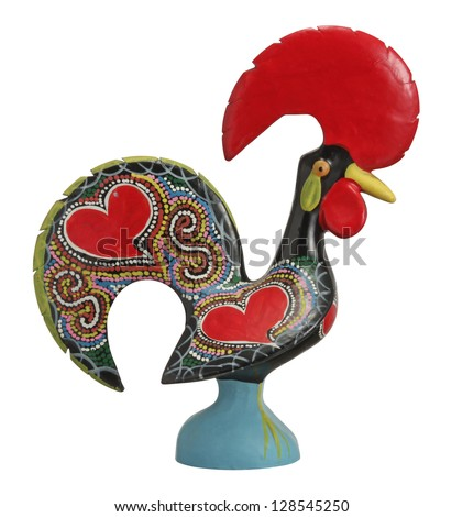 Traditional Ceramic Rooster - symbol of Portugal - stock photo