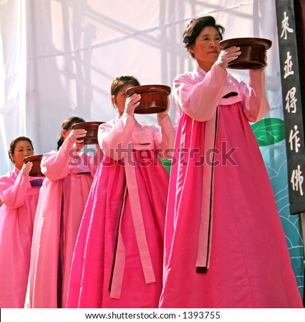 Traditional ceremony at a temple in South Korea
