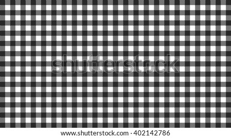 Traditional Checkered Tablecloth Pattern Black And White
