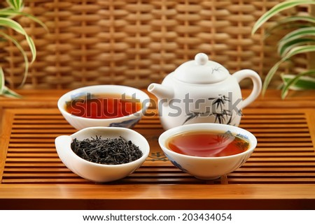 traditional chineese Big Red Robe tea - stock photo
