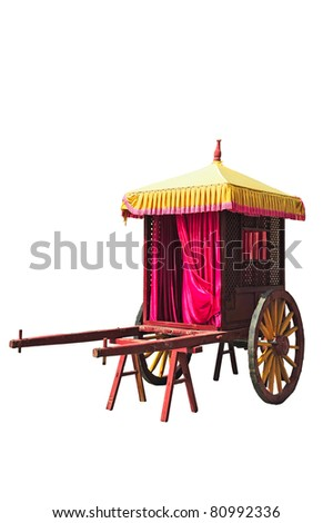 Traditional chinese carriage - stock photo