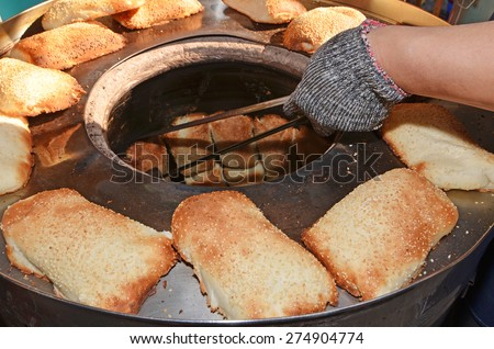 Traditional chinese clay oven rolls - stock photo