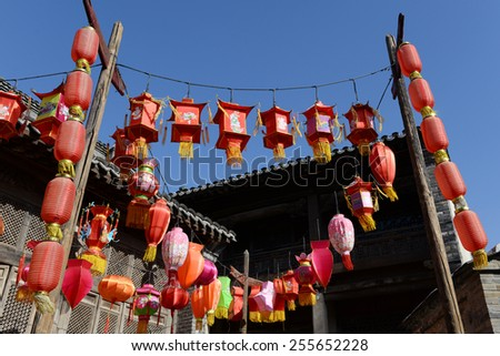 traditional chinese lantern in holiday