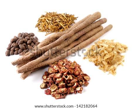 traditional Chinese medicinal materials - stock photo