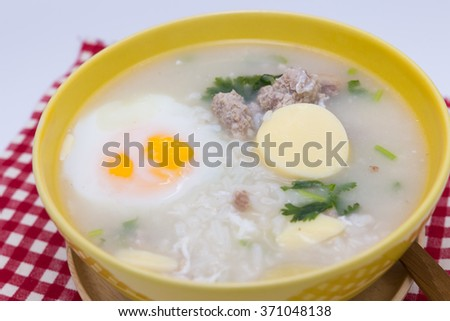 mix pounded chicken egg yolks with sugar and beaten egg whites in a ...
