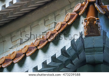 Traditional Chinese style roof decoration