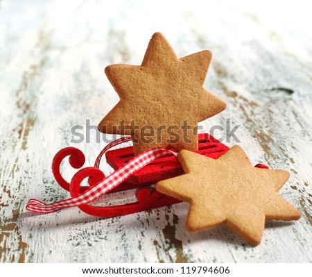Traditional Christmas gingerbread cookie