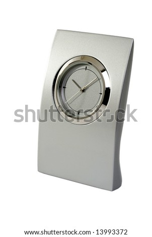 Traditional clock on a white background.