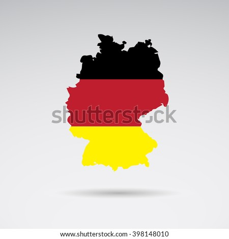 Traditional colors and flag of Germany.