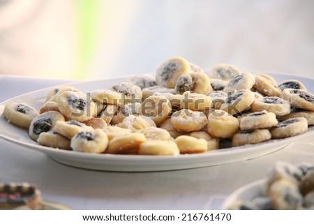 traditional czech wedding cookies - stock photo
