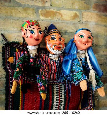 Traditional doll from Uzbekistan - stock photo