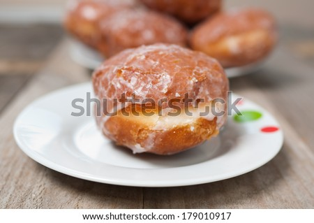 Traditional donuts from the cake shop handmade