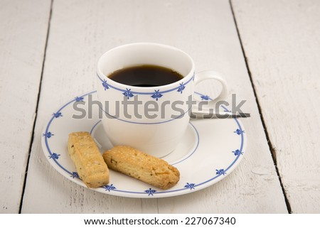 traditional dutch biscuits - stock photo