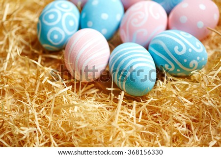 Traditional Easter eggs - stock photo