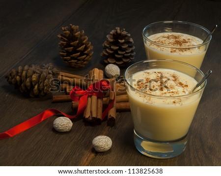 Traditional eggnog III - stock photo