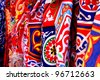 Traditional Egyptian textile rolls - stock photo
