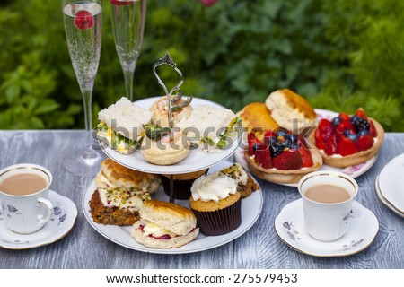 Traditional English afternoon tea