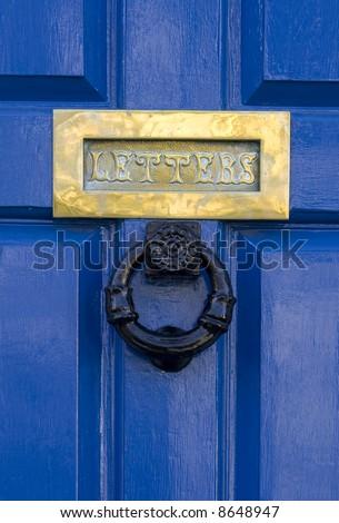 Traditional English Door - stock photo