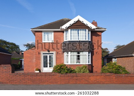 Traditional english house - stock photo
