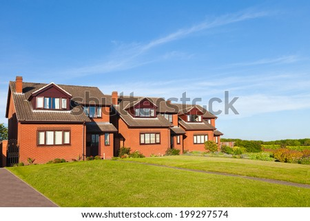 Traditional english houses - stock photo