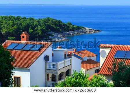 Mediterranean roof style stock images royalty free images for Mediterranean roof styles