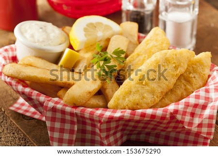 Plate Of Fish And Chips Served With Tartar Sauce | Short News Poster