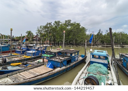 Traditional fisherman wooden boat