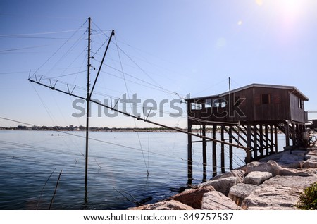 Traditional Fishing Europen House near Venice in Italy