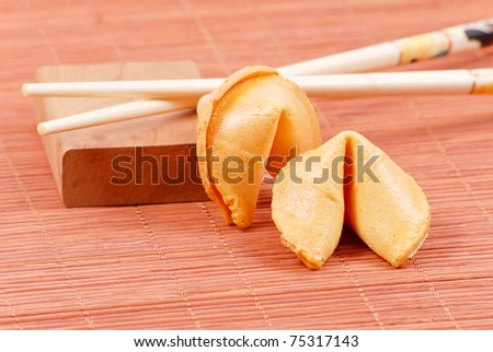 Traditional Fortune Cookies (Asian Cuisine) - stock photo