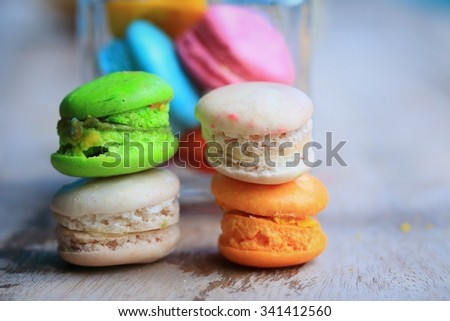 traditional french colorful macaroons