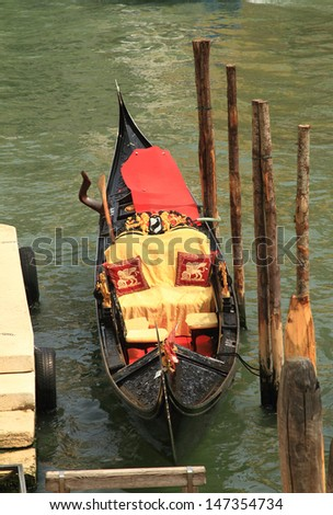 Traditional gondola in Venice, Italy